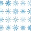Snowflake Vector Set — Stock vektor