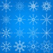 sneeuwvlok vector set — Stockvector