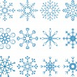 Stock Vector: Snowflake Vector Set
