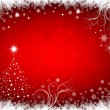 Christmas red background — Imagen vectorial