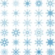 Snowflake Vector Set — Stockvektor