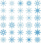 Snowflake Vector Set — Stock Vector