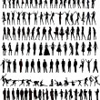 People Silhouette  Set  vector — Stock Vector
