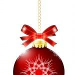 Christmas red ball — Stock Vector