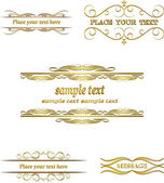 Vector set vintage labels — Stock Vector