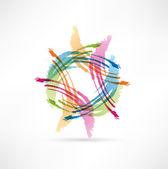 Vector Color Brush Strokes. Abstract symbol. — Stock Vector