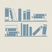 Bookshelf. Retro illustrations. — Stock Vector