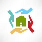Le concept des maisons sûres — Vecteur