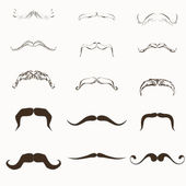 Moustache Vector Set — Stock Vector