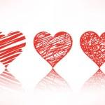 Set of scribble hearts — Stock Vector #13677808