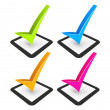 Illustration of check mark and check box -  