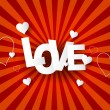 Love Abstract  background - Stock Vector