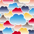 Stock Vector: Clouds background