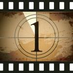 Grunge film countdown — Stock Vector