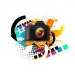 現代のデジタル カメラ — ストックベクタ