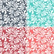 Royalty-Free Stock Vector Image: Seamless floral background set