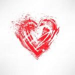 Painted brush heart shape — Stock Vector #13676705