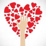 Stylized love tree made of hearts. Hand tree — Stock Vector #13676725
