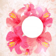 Abstract tropical background. Hibiscus flower for design. — Imagen vectorial