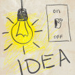 Innovative lamp. idea concept — Stock Vector #13676787