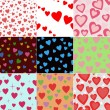Valentine seamless hearts pattern — Stock Vector #13677038