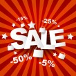 Royalty-Free Stock Vector Image: Sale poster with percent discount