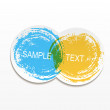 Abstract web design bubble, — Stock Vector