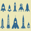 Stock Vector: Rocket Icon