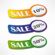 Sale stickers set — Stock Vector