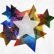 Grunge star. Abstract Vector Background — Stock Vector