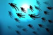 Concetto di subacquea — Vettoriale Stock