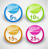 Discount labels. Vector — Vettoriale Stock