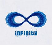 Símbolo del infinito. vector. — Vector de stock
