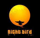 Noční pták — Stock vektor