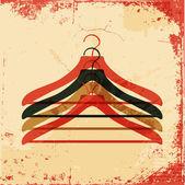 Clothes hanger retro poster — Stock Vector