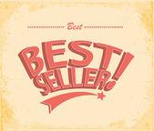Best seller Vintage Poster Vector — Stock Vector