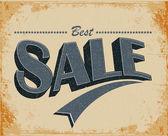 Vector vintage cartel de venta — Vector de stock