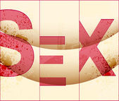 Sex background — Stock Vector
