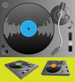 Illustration of a turntable — Stock Vector