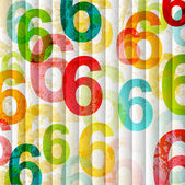 Abstract background with colorful rainbow numbers for design — Stock Vector