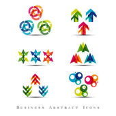Business abstract icons set — Stok Vektör
