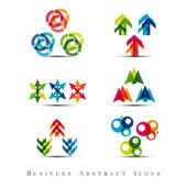 Set di icone astratte di affari — Vettoriale Stock