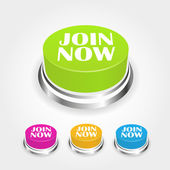 Join now button collection — Stock Vector