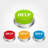 Help button — Stock Vector