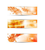 Set of abstract modern header banner for business flyer or websi — Stock Vector