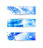 Set of abstract modern header banner for business flyer or websi — Stock Vector