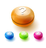 Question mark button — Stock Vector