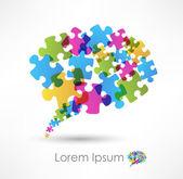 Bolla di discorso fatta da puzzle — Vettoriale Stock