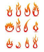 Verzameling van brand icons — Stockvector