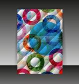 El ilanı veya kapak tasarımı. klasör tasarım içerik arka plan. editabl — Stok Vektör